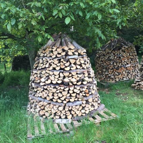 The Holz Hausen log storage