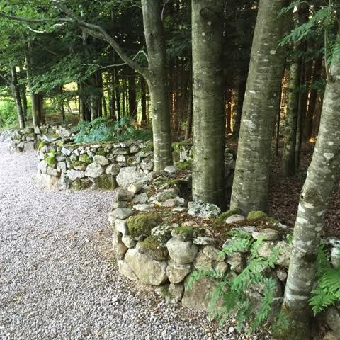 Andy Goldsworthy style curving stone wall
