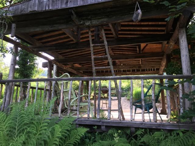 wooden garden structure