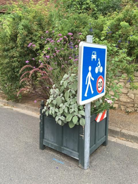 Even the traffic-calming is horticultural in Chedigny
