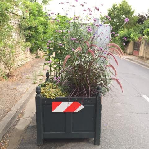 planter used to guide traffic