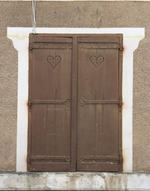 shutters with hearts