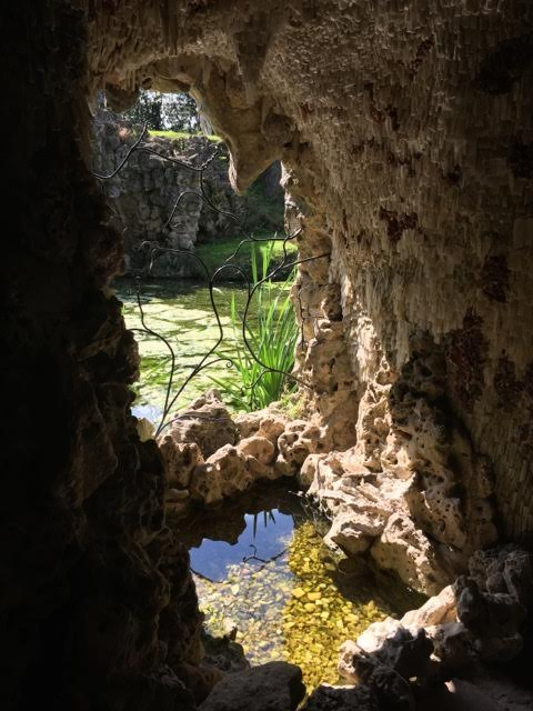 small pond within grotto