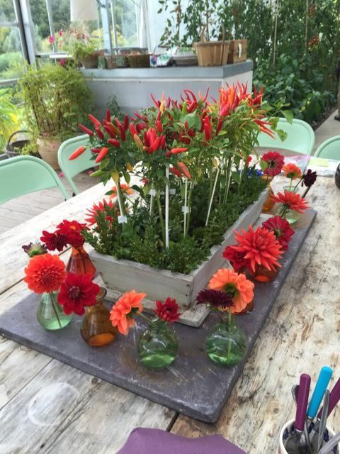 sarah's flower arrangement