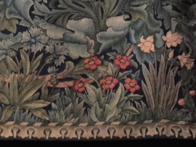 plants on tapestry