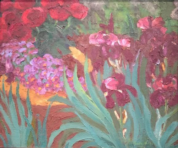 oil painting iris
