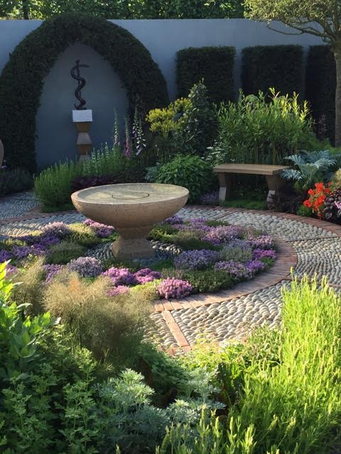 Jekka McVicar's Modern Apothecary Garden – an atmospheric and gorgeously planted meditative and healing herb garden that is destined to be rebuilt at a hospice