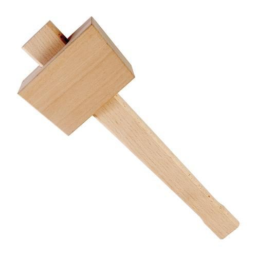 cheap and simple, a wooden mallet