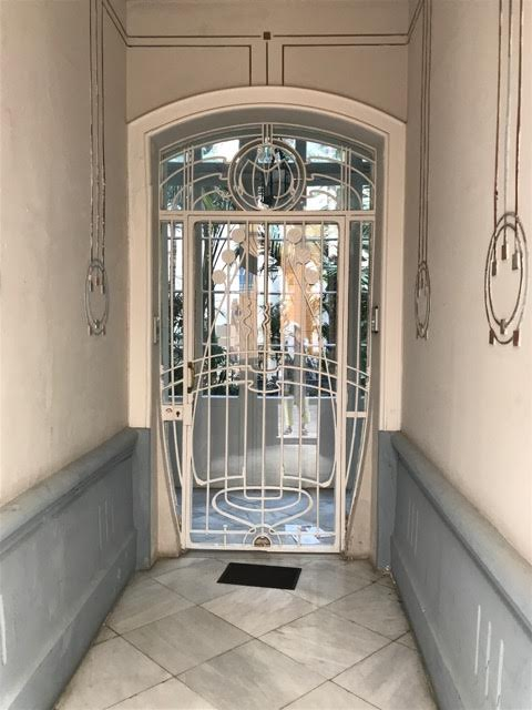 decorative metalwork doorway