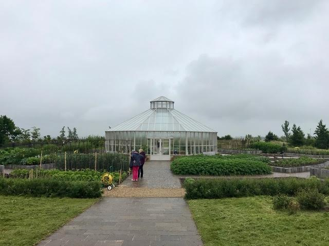 greenhouse in background