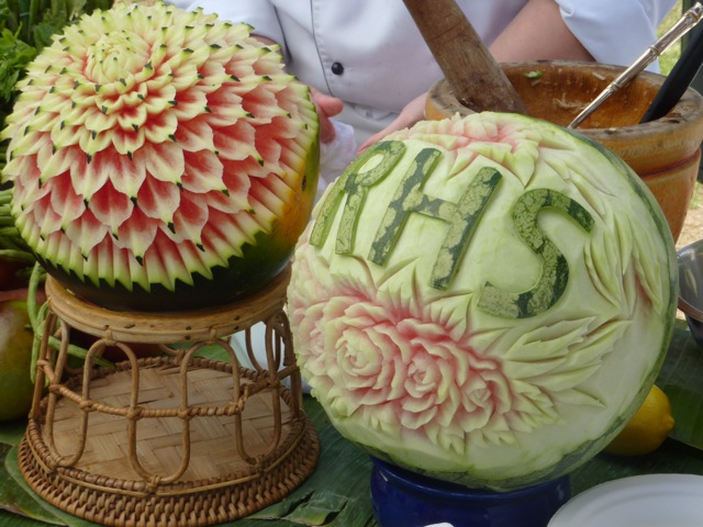 impressive fruit carving